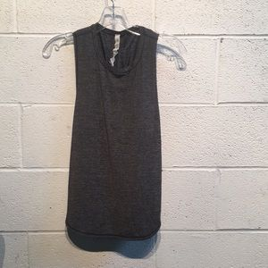 Lululemon grey tank with ruched back size 4 57796
